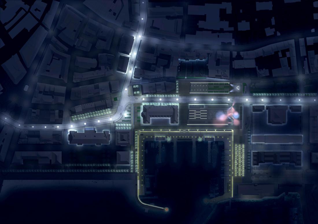 Numa-Port-neuchatel-plan-nacht