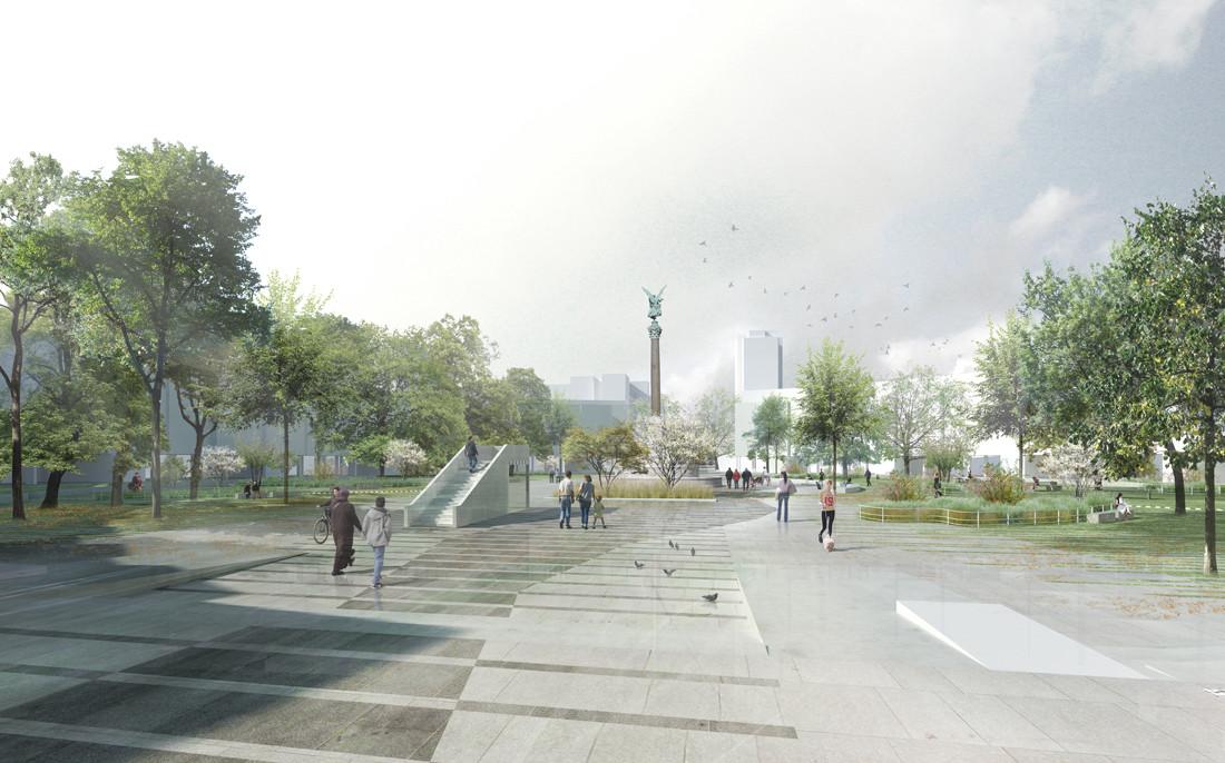 Mehringplatz-Berlin-Perspektive